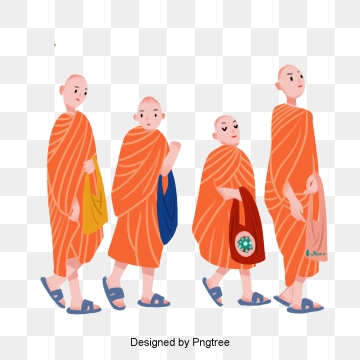 Buddhist Monk PNG Images.