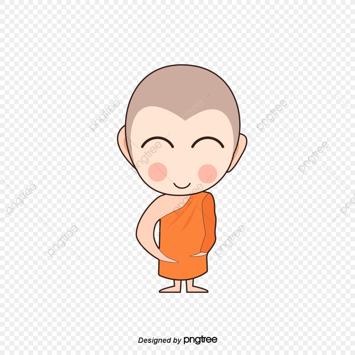 Cartoon Monk Figure, Cartoon Clipart, Cartoon, Lovely PNG.