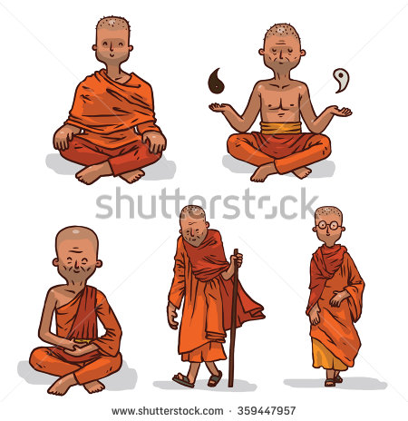 Monks Stock Vectors, Images & Vector Art.
