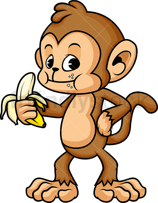 Monkey Eating A Banana.