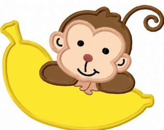 Monkey Banana Clipart.