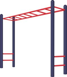 School monkey bars clipart.