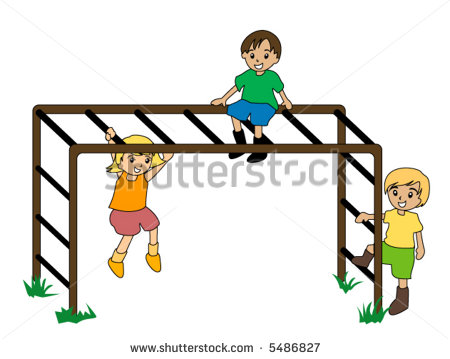 Monkey Bars Clipart.
