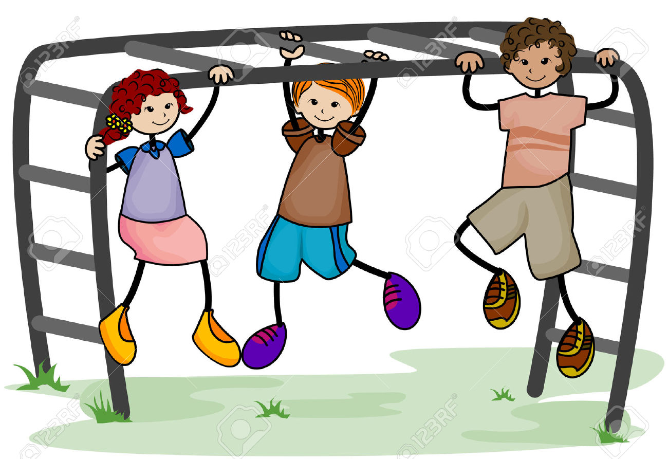 Monkey bars clip art.