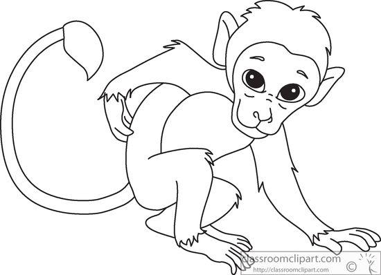Monkey black and white monkey clip art black and white free.