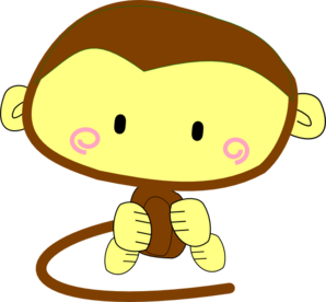 Brown Monkey Clip Art at Clker.com.