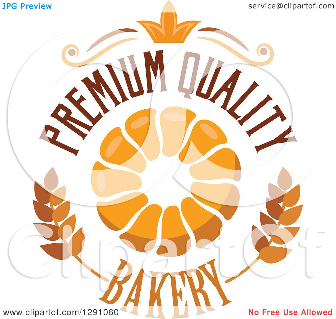Clipart of a Pull Apart, Croissant, or Monkey Bread in a Wheat.
