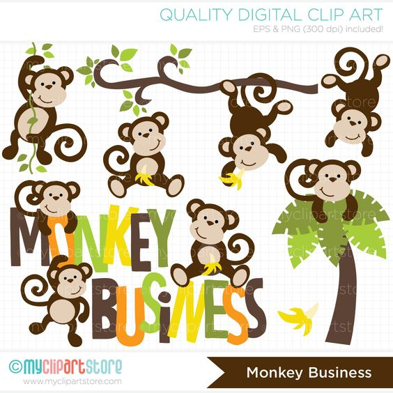 Monkey Business / Monkey clipart.