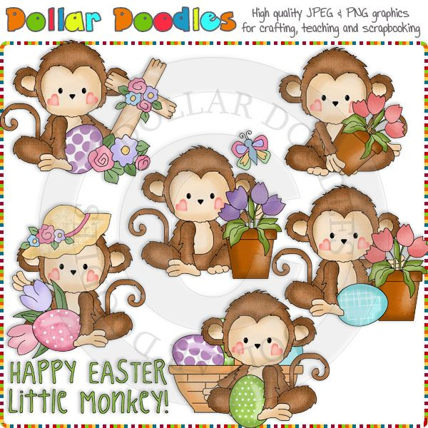 Easter Monkey Clipart.