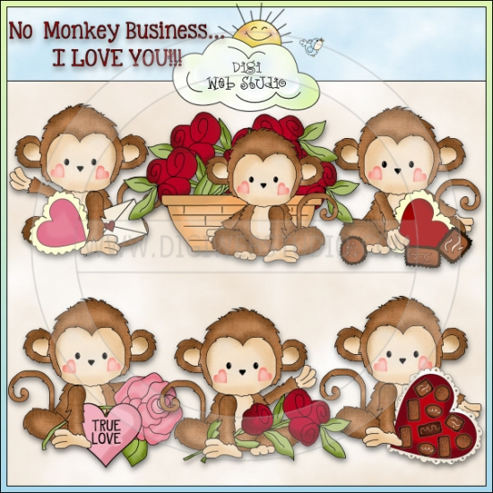 Monkey Business Valentines 1.