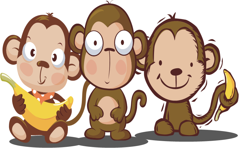 Monkey writing clipart.