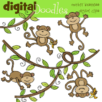 Monkey Business Digital Clip art.