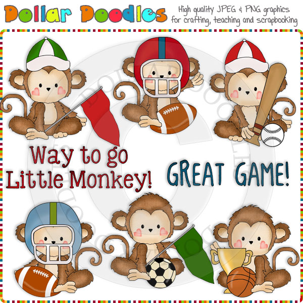 Monkey Business Sports Clip Art Download [RS98171].
