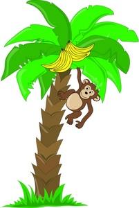 Monkey Climbing Clipart.