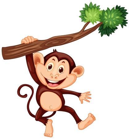 149 Monkeys Climbing Trees Stock Illustrations, Cliparts And.