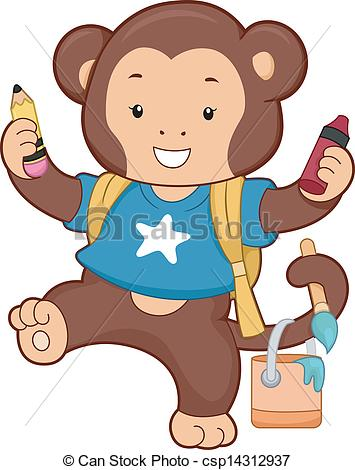 Free Monkey Clipart For Teachers.