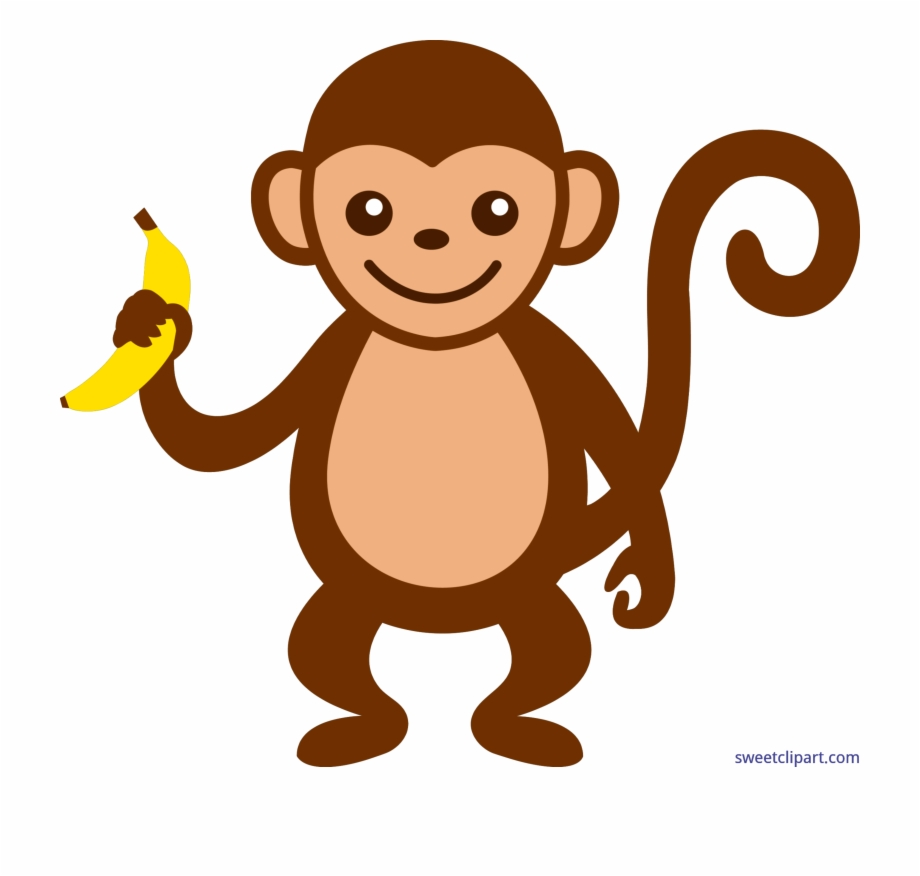 Banner Free Download Monkey With Banana Clip Art Sweet.