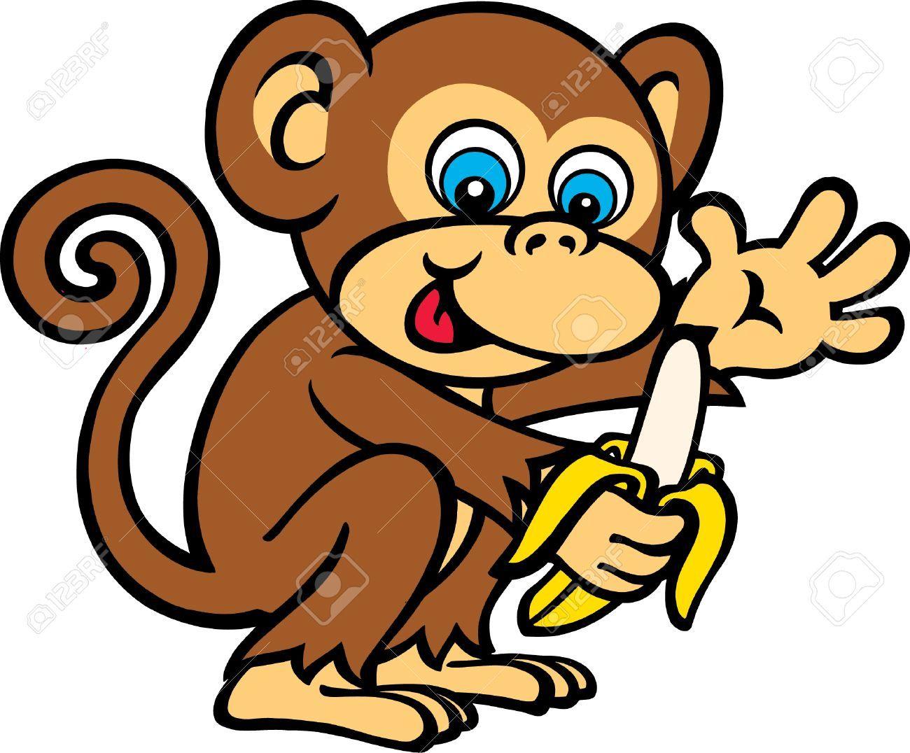 Monkey eating banana clipart 8 » Clipart Portal.