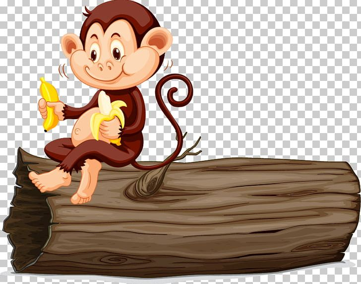 Monkey Eating Banana PNG, Clipart, Animals, Balloon Cartoon.
