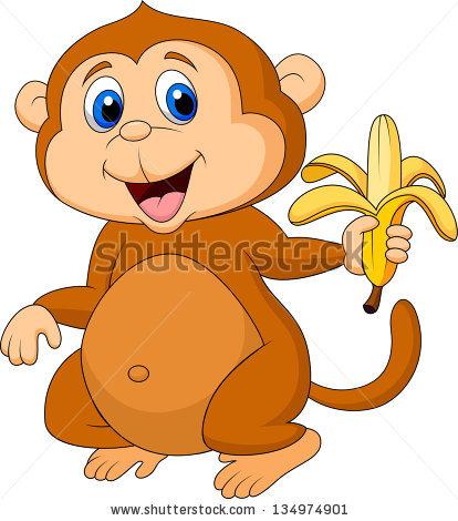 Monkey Eating Stock Vectors, Images & Vector Art.
