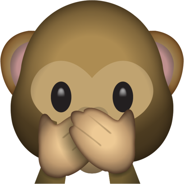 Speak No Evil Monkey Emoji.