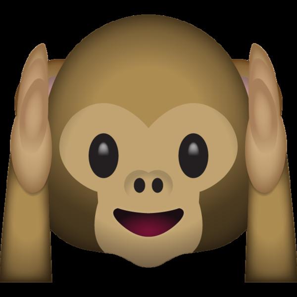Hear No Evil Monkey Emoji.