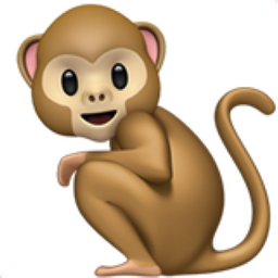 Monkey Emoji (U+1F412).