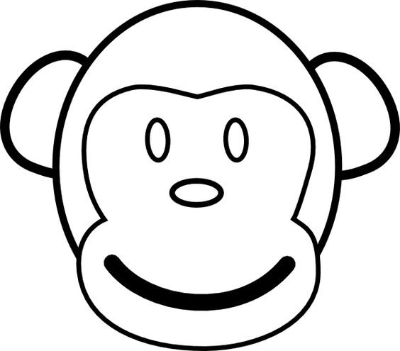 Monkey Face Template.
