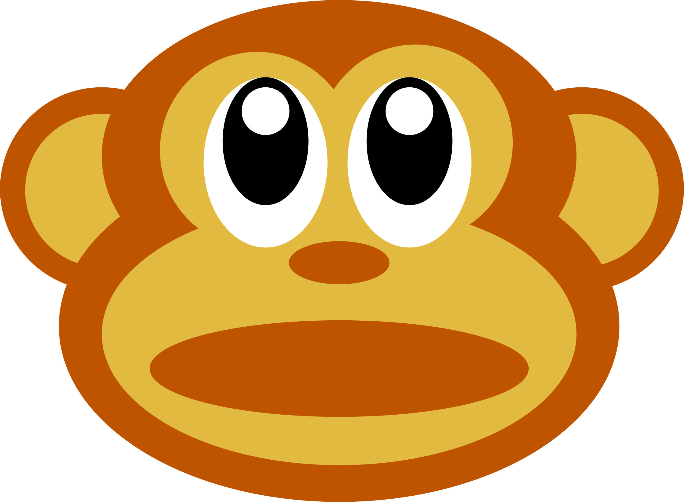 Clipart monkey face.