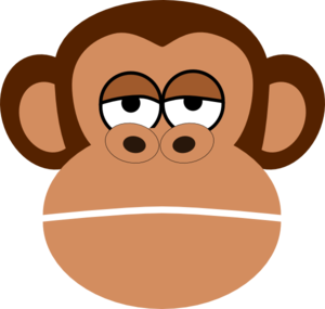 Showing post & media for Cartoon monkey face clip art.