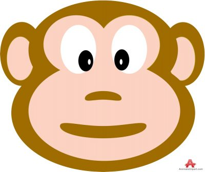 Monkey clipart face.