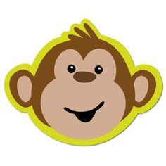 Baby Monkey Face Clip Art.