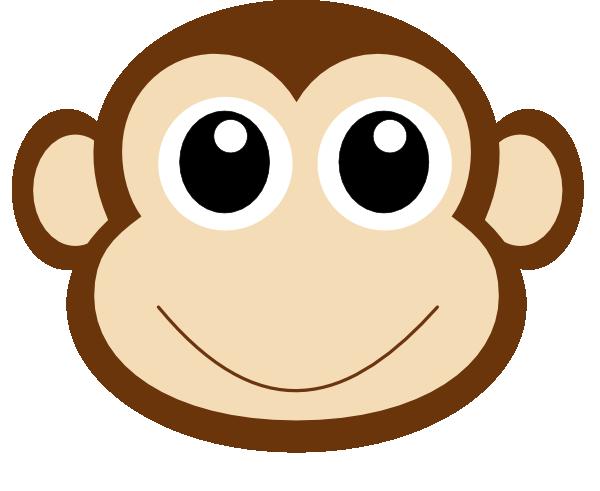 Monkey Clipart, Monkey Face Free Clipart.