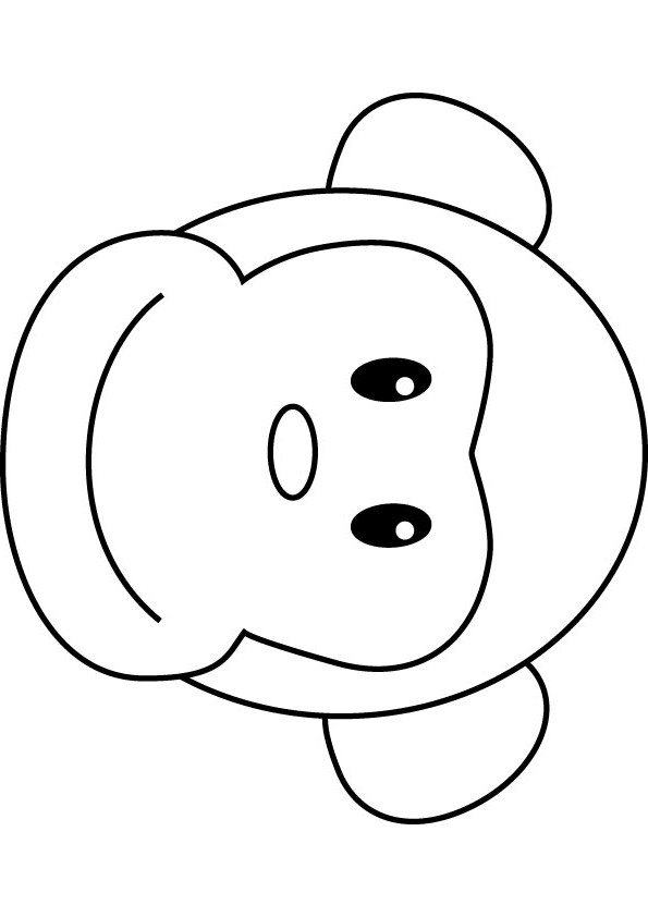 Monkey Face Clipart Black And White.