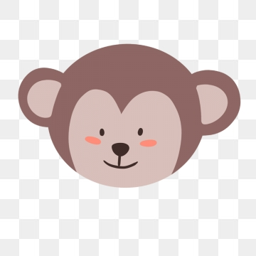 Monkey Face PNG Images.