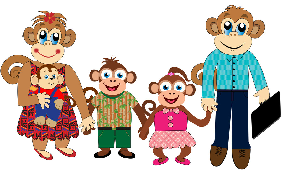Showing post & media for Cartoon monkey family.