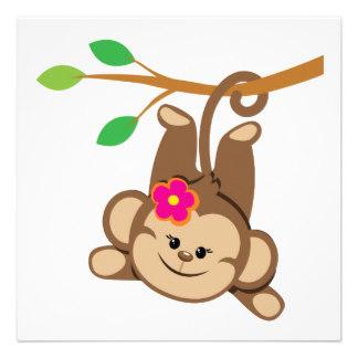 Girly Monkey Clip Art.
