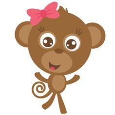 Monkey girl clipart.