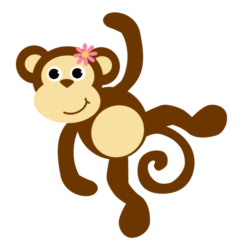 Monkey Free Images Mon Clipart No Background Baby Girl.