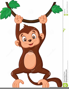 Clipart Monkey Hanging From Tree.