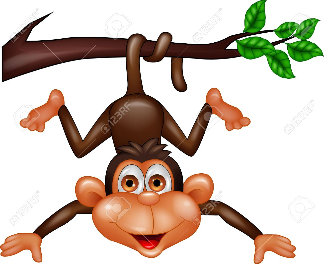 Monkey Hanging On Tree Branch Royalty Free Cliparts, Vectors, And.