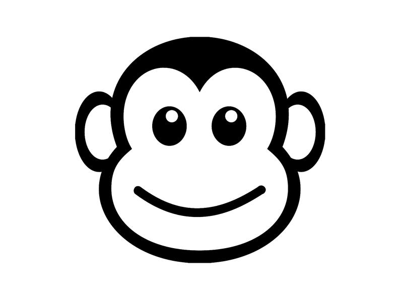 Monkey Head Silhouette Cutting File Clipart SVG DXF jpg png psd Photoshop  Element Vector.