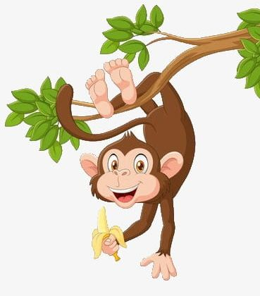 Monkey Hanging In A Tree PNG, Clipart, Banana, Barefoot.