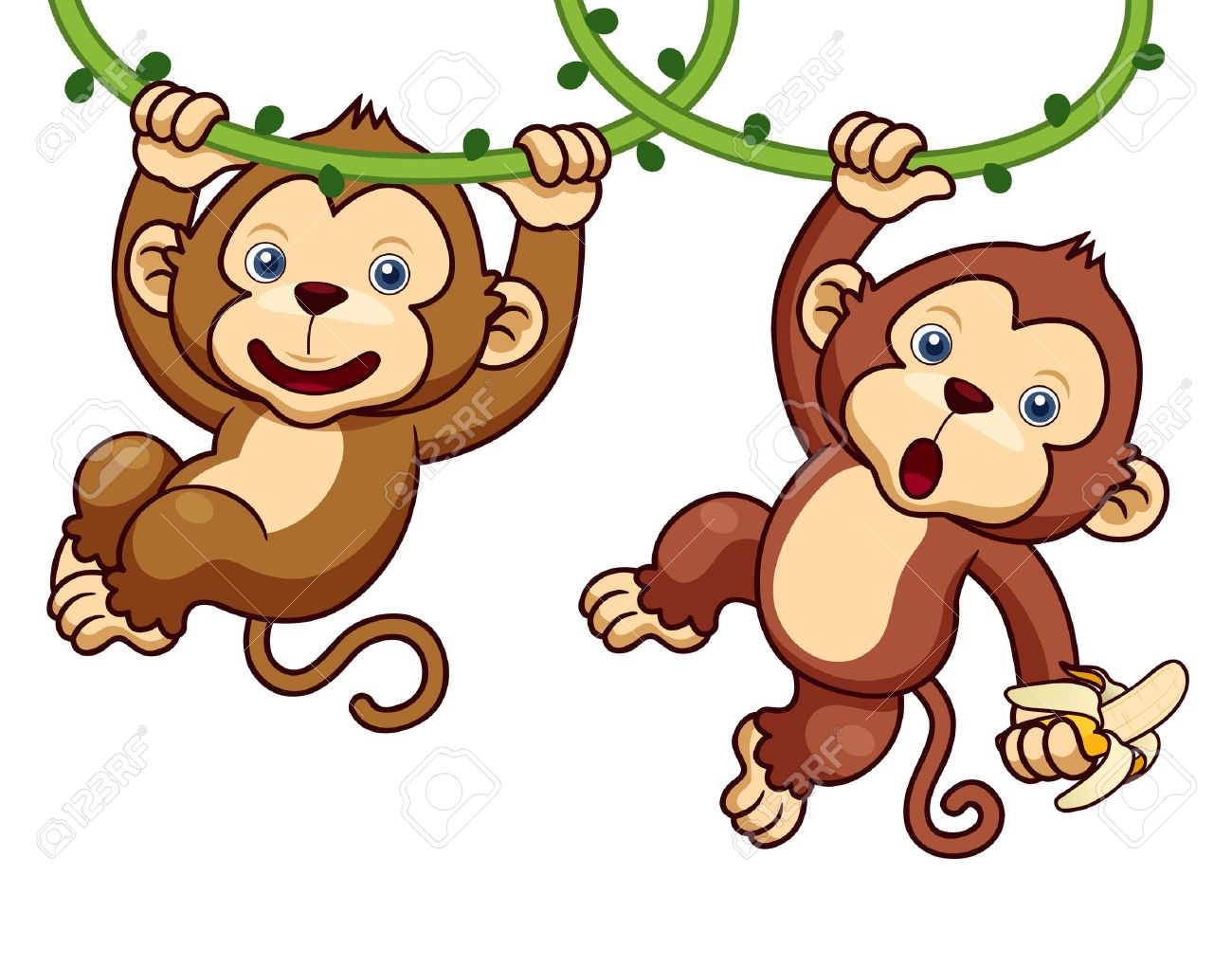 731 Jumping Monkey Stock Vector Illustration And Royalty Free.