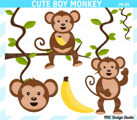 Jungle Monkey Clipart#1896556.