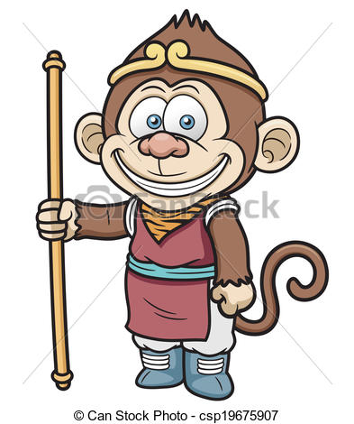 Monkey king Vector Clipart EPS Images. 484 Monkey king clip art.