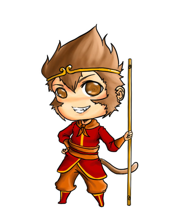 The monkey king clipart.