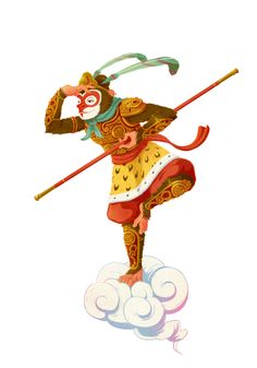 Monkey king clipart.