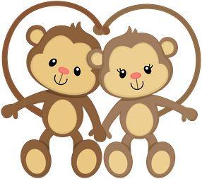 Monkey love clipart.