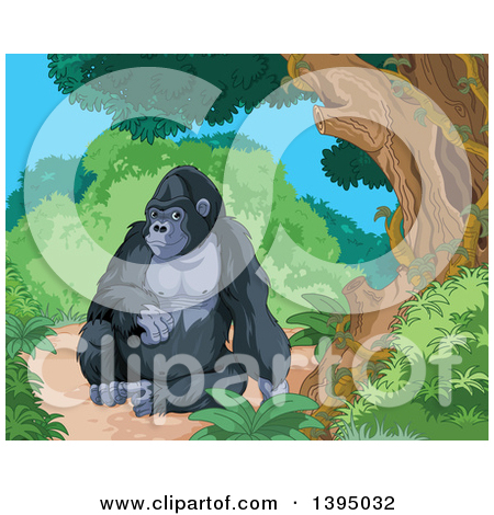 Royalty Free Monkey Illustrations by Pushkin Page 1.